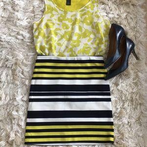 Ann Taylor striped lines skirt